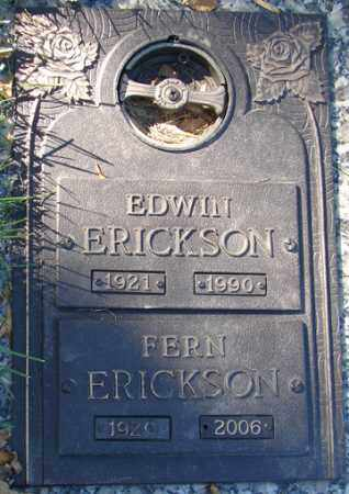 ERICKSON, EDWIN - Minnehaha County, South Dakota | EDWIN ERICKSON - South Dakota Gravestone Photos