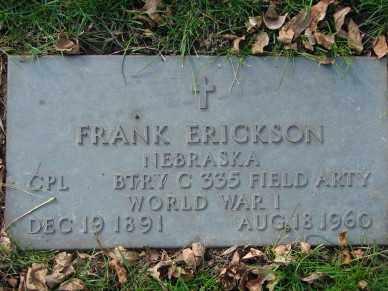 ERICKSON, FRANK - Minnehaha County, South Dakota | FRANK ERICKSON - South Dakota Gravestone Photos
