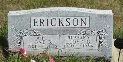 ERICKSON, IONE B. - Minnehaha County, South Dakota | IONE B. ERICKSON - South Dakota Gravestone Photos