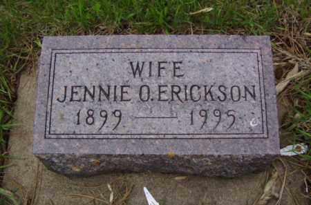 OTTERNESS ERICKSON, JENNIE - Minnehaha County, South Dakota | JENNIE OTTERNESS ERICKSON - South Dakota Gravestone Photos