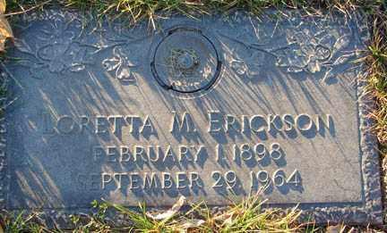 ERICKSON, LORETTA MAE - Minnehaha County, South Dakota | LORETTA MAE ERICKSON - South Dakota Gravestone Photos