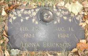 ERICKSON, LEONA - Minnehaha County, South Dakota   LEONA ERICKSON - South Dakota Gravestone Photos