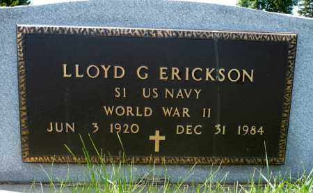 ERICKSON, LLOYD G. (WWII) - Minnehaha County, South Dakota | LLOYD G. (WWII) ERICKSON - South Dakota Gravestone Photos
