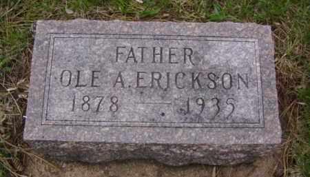 ERICKSON, OLE A. - Minnehaha County, South Dakota   OLE A. ERICKSON - South Dakota Gravestone Photos