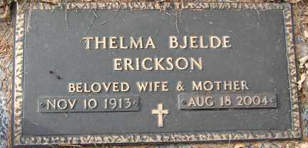 BJELDE ERICKSON, THELMA - Minnehaha County, South Dakota   THELMA BJELDE ERICKSON - South Dakota Gravestone Photos