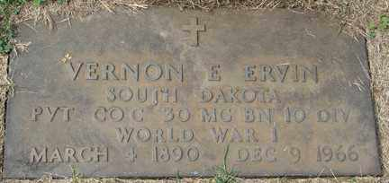 ERVIN, VERNON E. - Minnehaha County, South Dakota | VERNON E. ERVIN - South Dakota Gravestone Photos