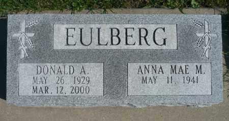 EULBERG, DONALD A. - Minnehaha County, South Dakota | DONALD A. EULBERG - South Dakota Gravestone Photos