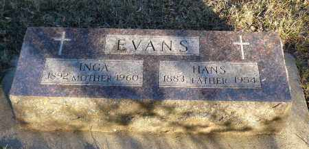 EVANS, INGA - Minnehaha County, South Dakota | INGA EVANS - South Dakota Gravestone Photos