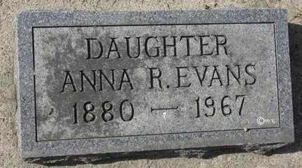 EVANS, ANNA R. - Minnehaha County, South Dakota   ANNA R. EVANS - South Dakota Gravestone Photos