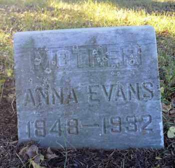 EVANS, ANNA - Minnehaha County, South Dakota   ANNA EVANS - South Dakota Gravestone Photos