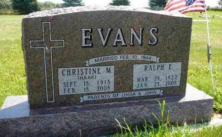 EVANS, CHRISTINE M. - Minnehaha County, South Dakota | CHRISTINE M. EVANS - South Dakota Gravestone Photos