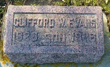 EVANS, CLIFFORD W. - Minnehaha County, South Dakota   CLIFFORD W. EVANS - South Dakota Gravestone Photos