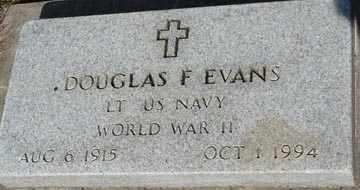 EVANS, DOUGLAS F. - Minnehaha County, South Dakota | DOUGLAS F. EVANS - South Dakota Gravestone Photos