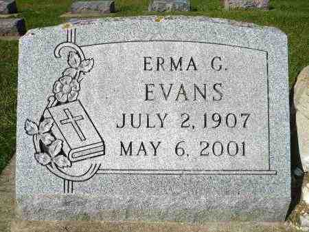EVANS, ERMA C. - Minnehaha County, South Dakota | ERMA C. EVANS - South Dakota Gravestone Photos
