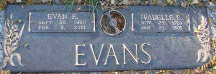 EVANS, EVAN E. - Minnehaha County, South Dakota | EVAN E. EVANS - South Dakota Gravestone Photos