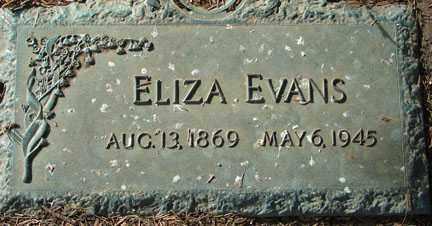 EVANS, ELIZA - Minnehaha County, South Dakota | ELIZA EVANS - South Dakota Gravestone Photos