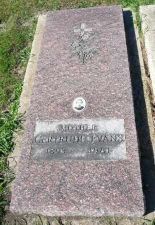 HUSS EVANS, GERTUDE - Minnehaha County, South Dakota | GERTUDE HUSS EVANS - South Dakota Gravestone Photos
