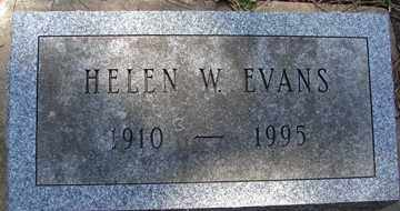 EVANS, HELEN W. - Minnehaha County, South Dakota | HELEN W. EVANS - South Dakota Gravestone Photos
