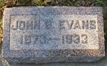 EVANS, JOHN B. - Minnehaha County, South Dakota | JOHN B. EVANS - South Dakota Gravestone Photos