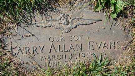 EVANS, LARRY ALLAN - Minnehaha County, South Dakota | LARRY ALLAN EVANS - South Dakota Gravestone Photos