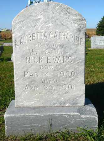 EVANS, LAURETTA CATHERINE - Minnehaha County, South Dakota | LAURETTA CATHERINE EVANS - South Dakota Gravestone Photos
