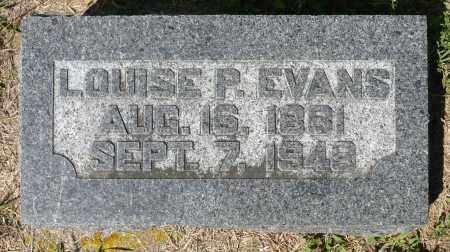 EVANS, LOUISE P. - Minnehaha County, South Dakota | LOUISE P. EVANS - South Dakota Gravestone Photos