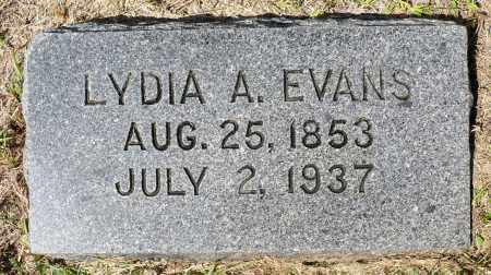 EVANS, LYDIA A. - Minnehaha County, South Dakota | LYDIA A. EVANS - South Dakota Gravestone Photos