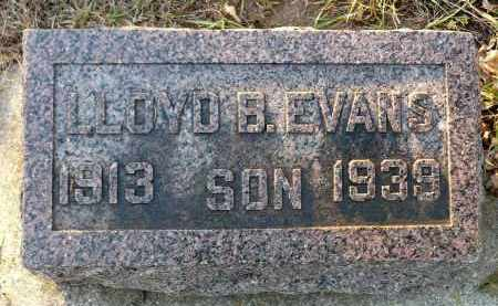EVANS, LLOYD B. - Minnehaha County, South Dakota | LLOYD B. EVANS - South Dakota Gravestone Photos