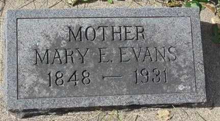EVANS, MARY E. - Minnehaha County, South Dakota   MARY E. EVANS - South Dakota Gravestone Photos