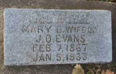 EVANS, MARY  E. - Minnehaha County, South Dakota | MARY  E. EVANS - South Dakota Gravestone Photos