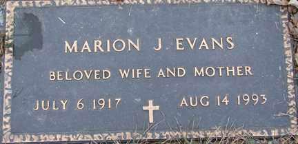 EVANS, MARION J. - Minnehaha County, South Dakota | MARION J. EVANS - South Dakota Gravestone Photos