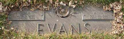 EVANS, OLE - Minnehaha County, South Dakota | OLE EVANS - South Dakota Gravestone Photos