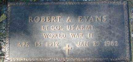 EVANS, ROBERT A. - Minnehaha County, South Dakota | ROBERT A. EVANS - South Dakota Gravestone Photos