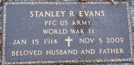 EVANS, STANLEY R. (WWII) - Minnehaha County, South Dakota | STANLEY R. (WWII) EVANS - South Dakota Gravestone Photos
