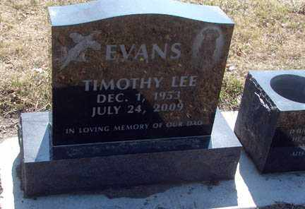 EVANS, TIMOTHY LEE - Minnehaha County, South Dakota | TIMOTHY LEE EVANS - South Dakota Gravestone Photos