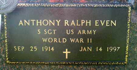 EVEN, ANTHONY RALPH (WWII) - Minnehaha County, South Dakota | ANTHONY RALPH (WWII) EVEN - South Dakota Gravestone Photos