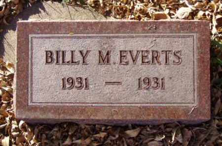 EVERTS, BILLY M. - Minnehaha County, South Dakota | BILLY M. EVERTS - South Dakota Gravestone Photos