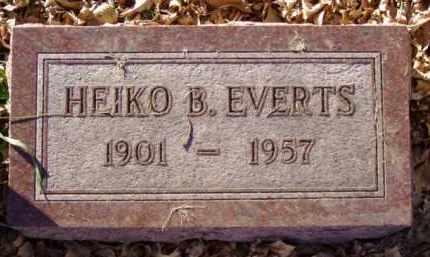 EVERTS, HEIKO B. - Minnehaha County, South Dakota | HEIKO B. EVERTS - South Dakota Gravestone Photos