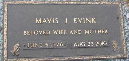EVINK, MAVIS J. - Minnehaha County, South Dakota | MAVIS J. EVINK - South Dakota Gravestone Photos