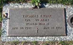 EVINK, THOMAS - Minnehaha County, South Dakota | THOMAS EVINK - South Dakota Gravestone Photos