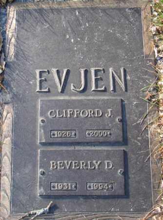EVJEN, CLIFFORD J. - Minnehaha County, South Dakota | CLIFFORD J. EVJEN - South Dakota Gravestone Photos