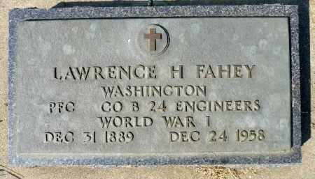 FAHEY, LAWRENCE H. (WWI) - Minnehaha County, South Dakota | LAWRENCE H. (WWI) FAHEY - South Dakota Gravestone Photos