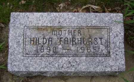 HELGERSON FAIRHURST, HILDA PAULINA - Minnehaha County, South Dakota | HILDA PAULINA HELGERSON FAIRHURST - South Dakota Gravestone Photos