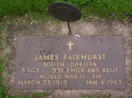 FAIRHURST, JAMES - Minnehaha County, South Dakota | JAMES FAIRHURST - South Dakota Gravestone Photos