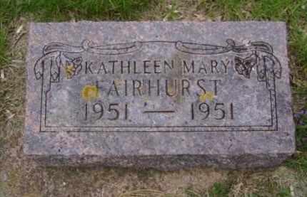 FAIRHURST, KATHLEEN MARY - Minnehaha County, South Dakota | KATHLEEN MARY FAIRHURST - South Dakota Gravestone Photos