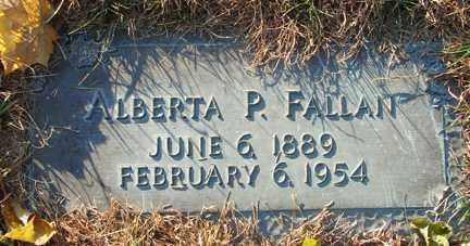 FALLAN, ALBERTA P. - Minnehaha County, South Dakota   ALBERTA P. FALLAN - South Dakota Gravestone Photos