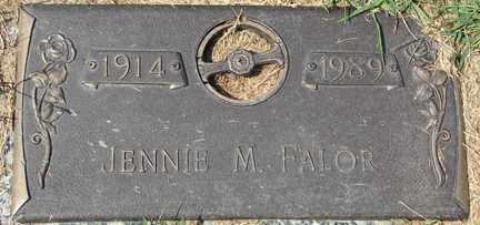 FALOR, JENNIE M. - Minnehaha County, South Dakota   JENNIE M. FALOR - South Dakota Gravestone Photos