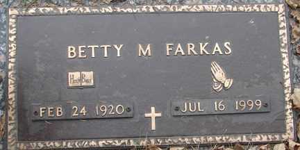 FARKAS, BETTY M. - Minnehaha County, South Dakota | BETTY M. FARKAS - South Dakota Gravestone Photos