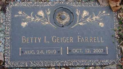 FARRELL, BETTY L. - Minnehaha County, South Dakota | BETTY L. FARRELL - South Dakota Gravestone Photos