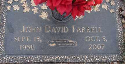 FARRELL, JOHN DAVID - Minnehaha County, South Dakota   JOHN DAVID FARRELL - South Dakota Gravestone Photos